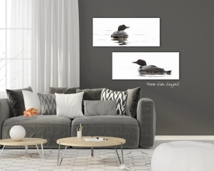 Living room with a gray sofa